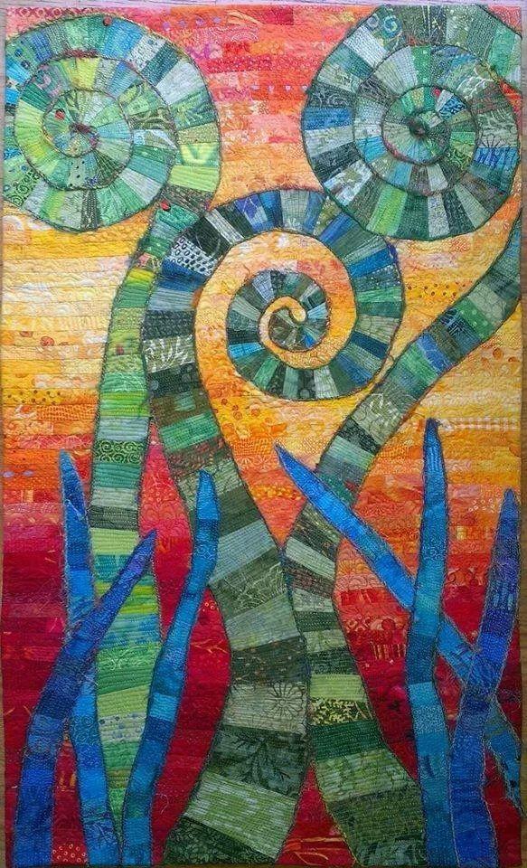 17 Best images about Journal quilt ideas on Pinterest Textile art, Ferns and Fiber art