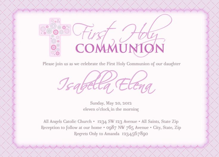 52 best invitaciones images on Pinterest First holy communion - invitation templates holy communion