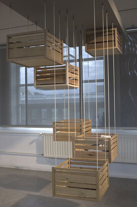 Wouldn't this be clever in a playroom and perhaps all painted different colors...Hoog en Droog by Jephte Francissen - Dezeen