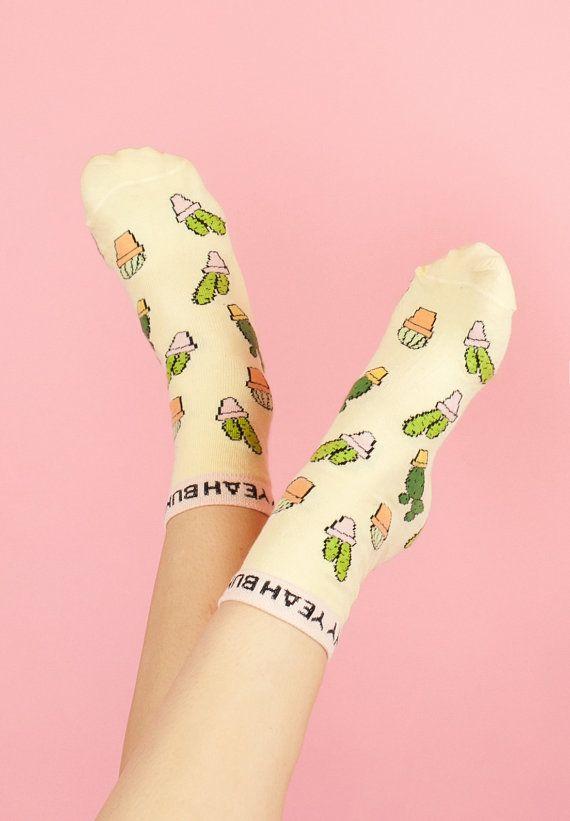 Cactus Socks - Yeah Bunny - Plants are Friends  yeahbunny.etsy.com 10% OFF with code YBPINTERES