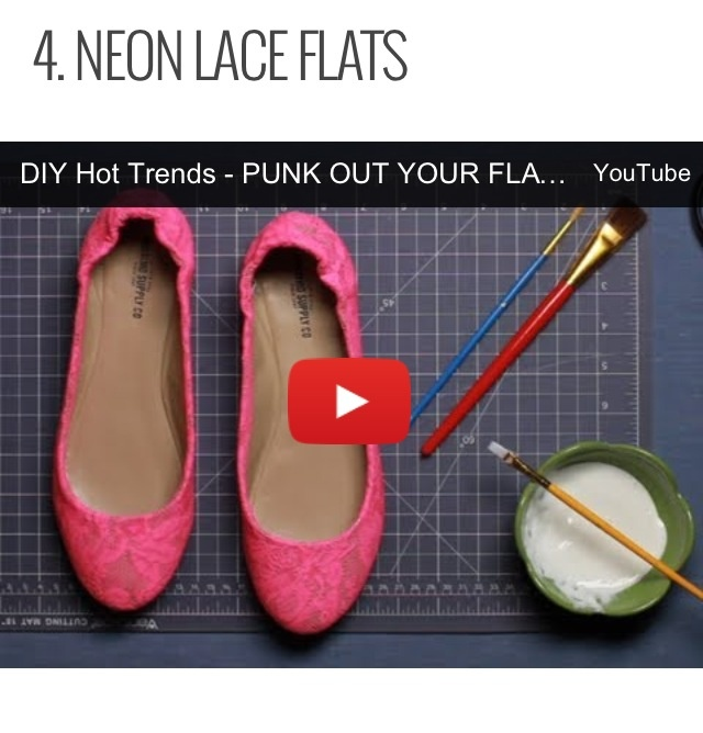 Neon Lace Shoes DIY - Youtube