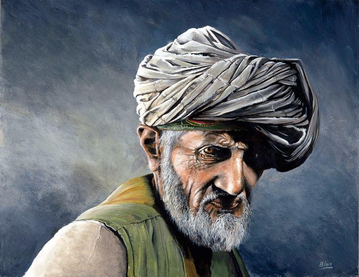 Afghan village old man