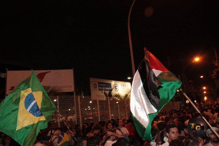 Manifestação no centro do Rio de Janeiro dia 20 de junho de 2013