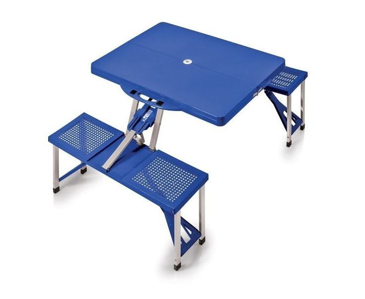 Folding Picnic Table With 4 Seats Portable Camping Garden Outdoor Aluminum Adult…