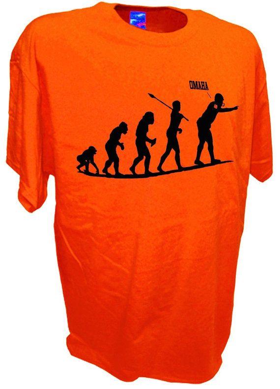 MEN'S  Omaha Evolve Payton Manning Quarterback Denver Broncos Colts Football T Shirt