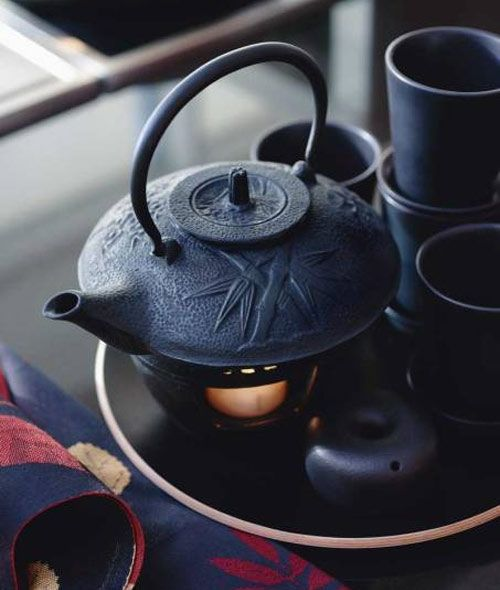 Japanese iron tea kettle                                                                                                                                                                                 More