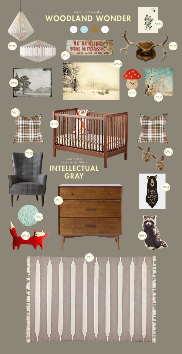 Lay Baby Lay: woodland wonder I love this so much for a little boy's room--My Husband would approve, too!