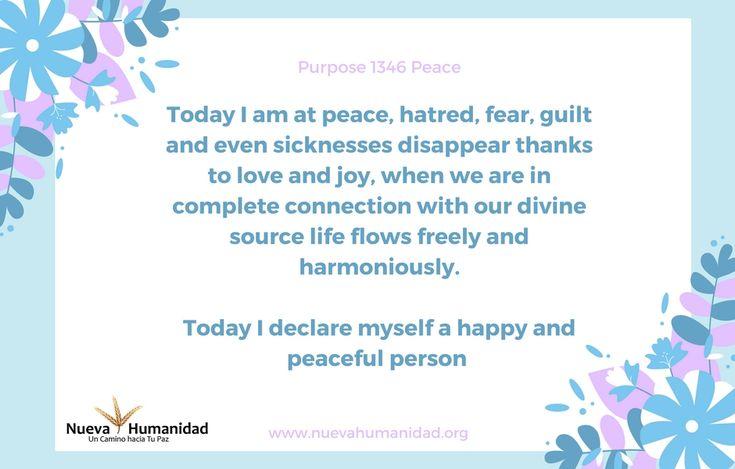 Purpose 1346 Peace