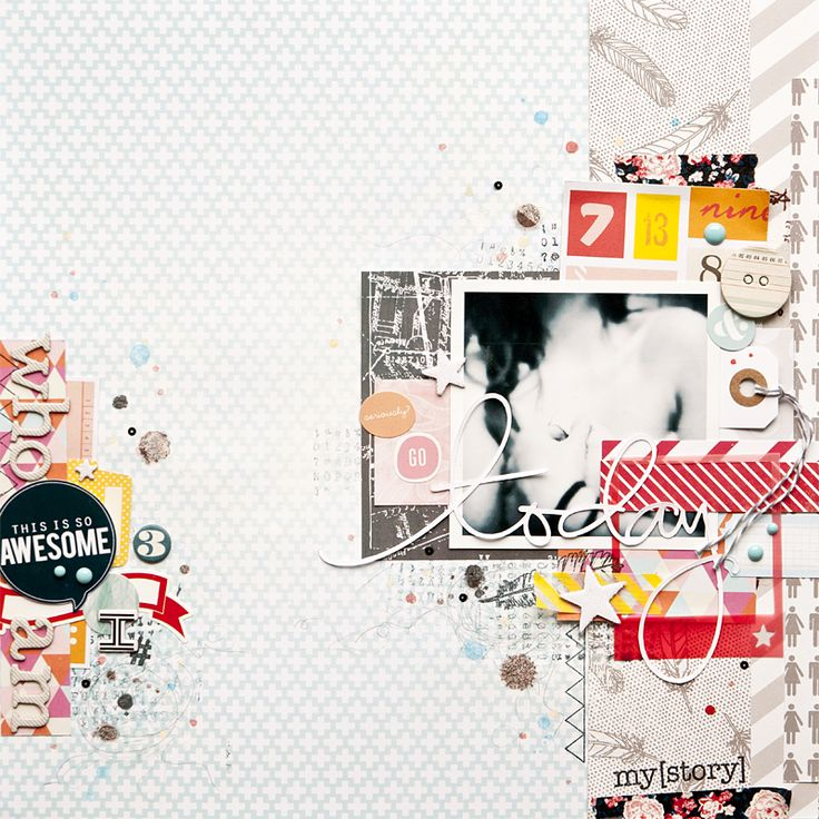 Studio Calico. it is all about scrap. Scrapbook layout
