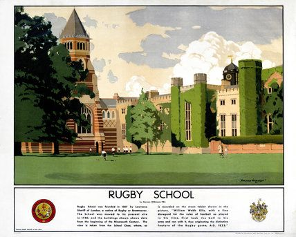 'Rugby School', LMS poster, 1923-1947. of a series devoted to public schools in…