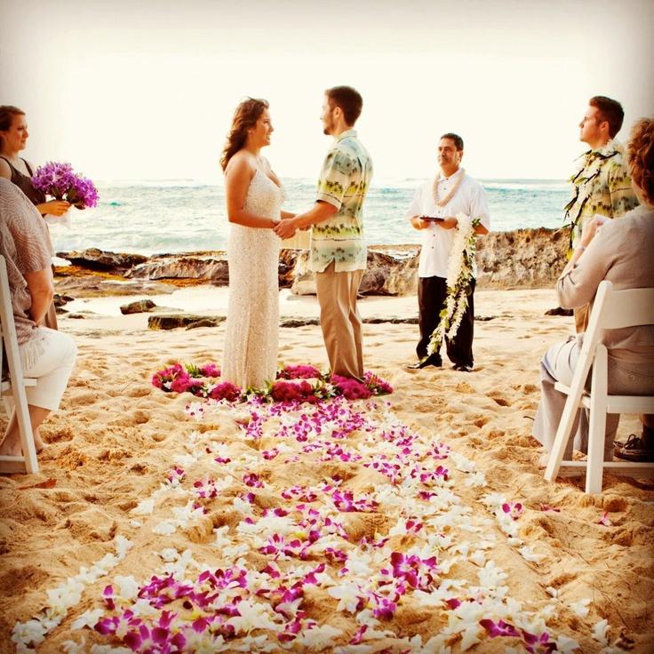 Oahu Hawaii Beach Wedding
