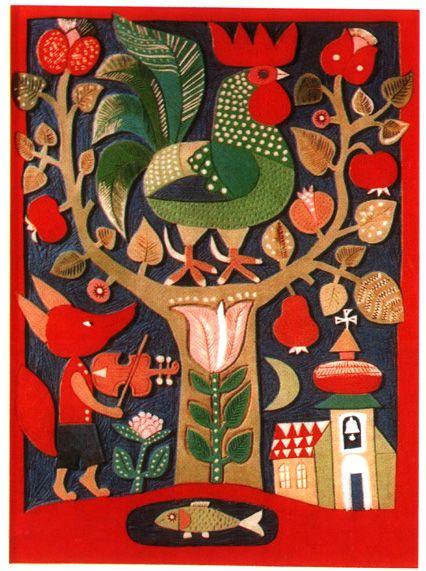 Linocut by Károly Reich (1922-1988)