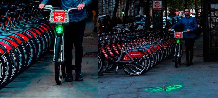 Las 11.500 bicicletas públicas de Londres incorporarán Blaze Laserlight, el foco láser que mejora la seguridad de los ciclistas.