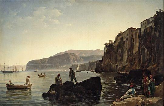 Sylvester Shchedrin Feodosievich - Small Harbour in Sorrento, 1828.