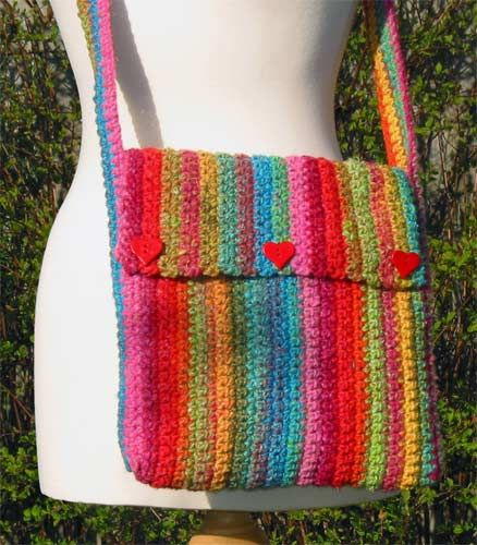 Yarn Tote Crochet Pattern Free | Crocheted in Noro Iro No.18, this funky bag is sure to catch everyone ...