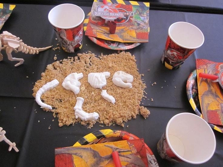 gum paste skeleton and edible sand