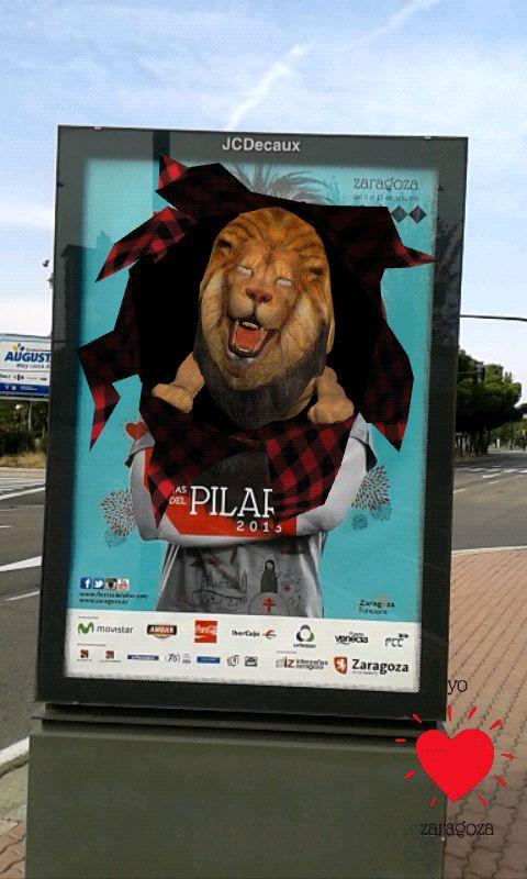 #augmentedreality poster experience developed for 2013 Pilar festival
