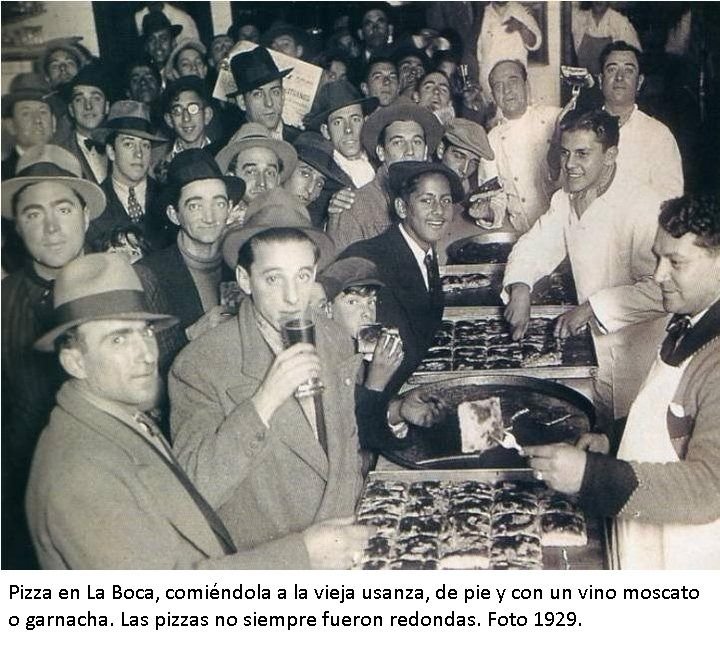 Pizza en La Boca, c. 1929