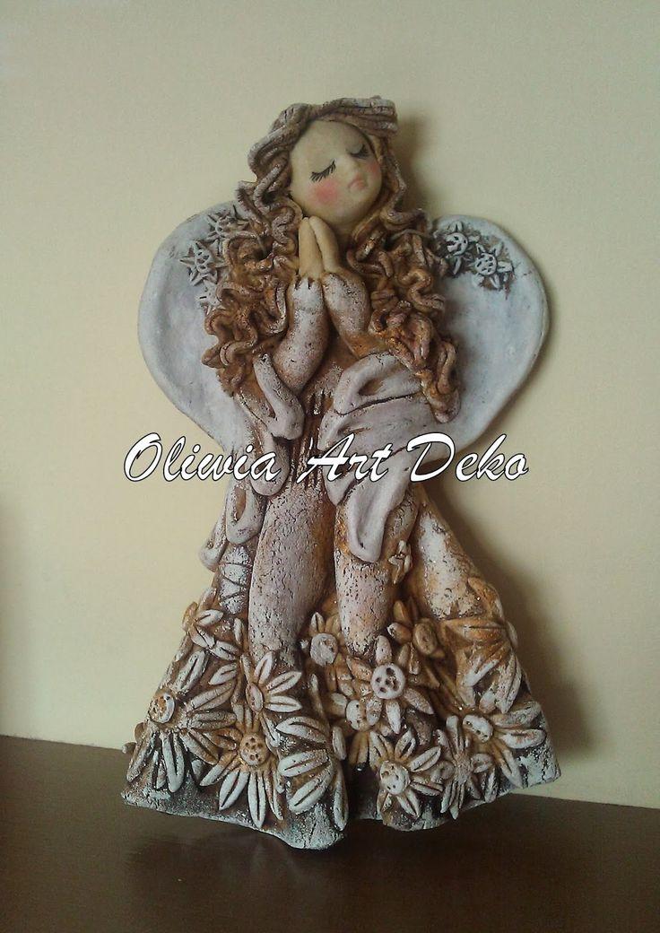 Oliwia Art Deko: Anioł z masy solnej