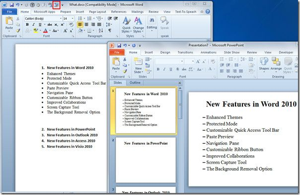 Word 2010 Document To PowerPoint 2010