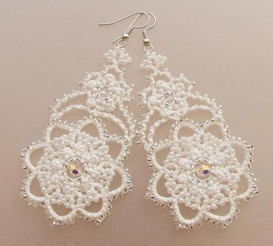 CHIACCHIERINO - Gioielli di chiacchierino: Wedding Lace Vintage, Lace Earrings, Diy Craft, Bridal Wedding, Tatting Earrings, Lace Vintage Wedding, Tatting