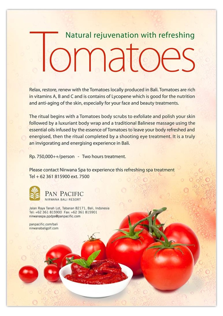 Refreshing spa treatment with Tomatoes