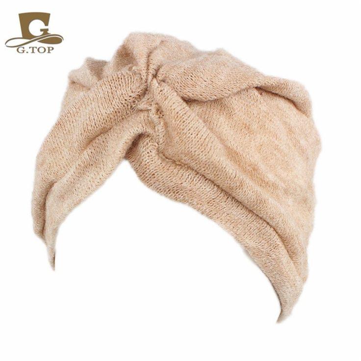 2016 Mode Femmes Laine Mélange Jersey Turban chapeau D'hiver cap indien Dame Hijab Turban Bandeau Turbante pour Femmes dans Cheveux Accessoires de Femmes de Vêtements et Accessoires sur AliExpress.com | Alibaba Group