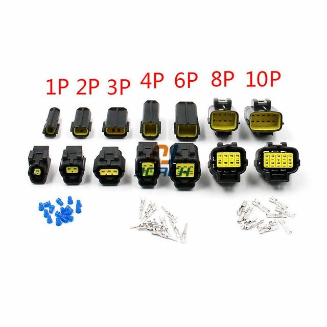 Free Shipping 1 Set 1 2 3 4 6 8 10 12 Pin Way Waterproof Wire Connector Plug Car Auto Sealed Electrical Set Car Truck Connec Wire Connectors Car Set Connectors