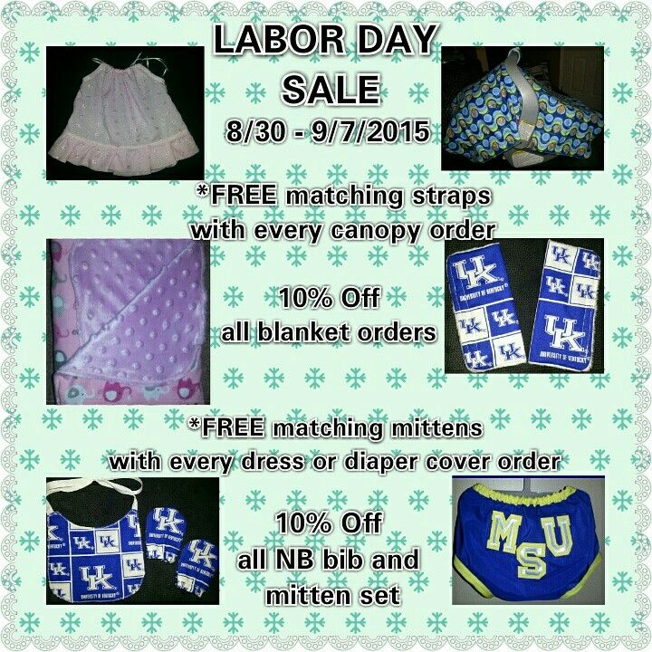 LABOR DAY SALE IS IN!!!! *valid 8/30-9/7/2015  Take a peek and click on my page link below...and if you like what you see...make sure to like, share and invite all your friends:0)  You can also follow me on instagram: @chicbabycreation  ALL CUSTOM ORDERS WELCOME (priority shipping is available)  https://www.facebook.com/chicbabycreation