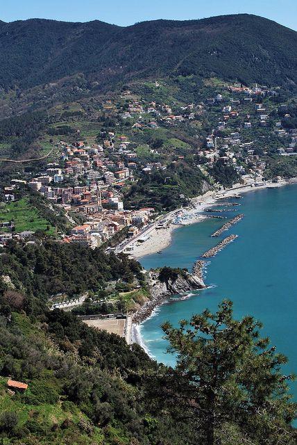 Moneglia, Province of Genoa, Liguria region Italy. Love this little village