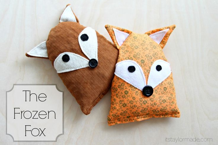"""""""Frozen Fox"""" Ice Pack Sewing Tutorial: keep it in the freezer for all of the """"boo boos"""""""