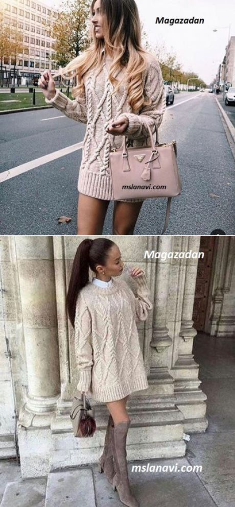 Пуловер спицами Magazadan | Вяжем с Лана Ви