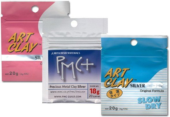 Metal Clay Brands and Formulas: Precious Metal Clay (PMC), Art Clay Silver and Gold and more!