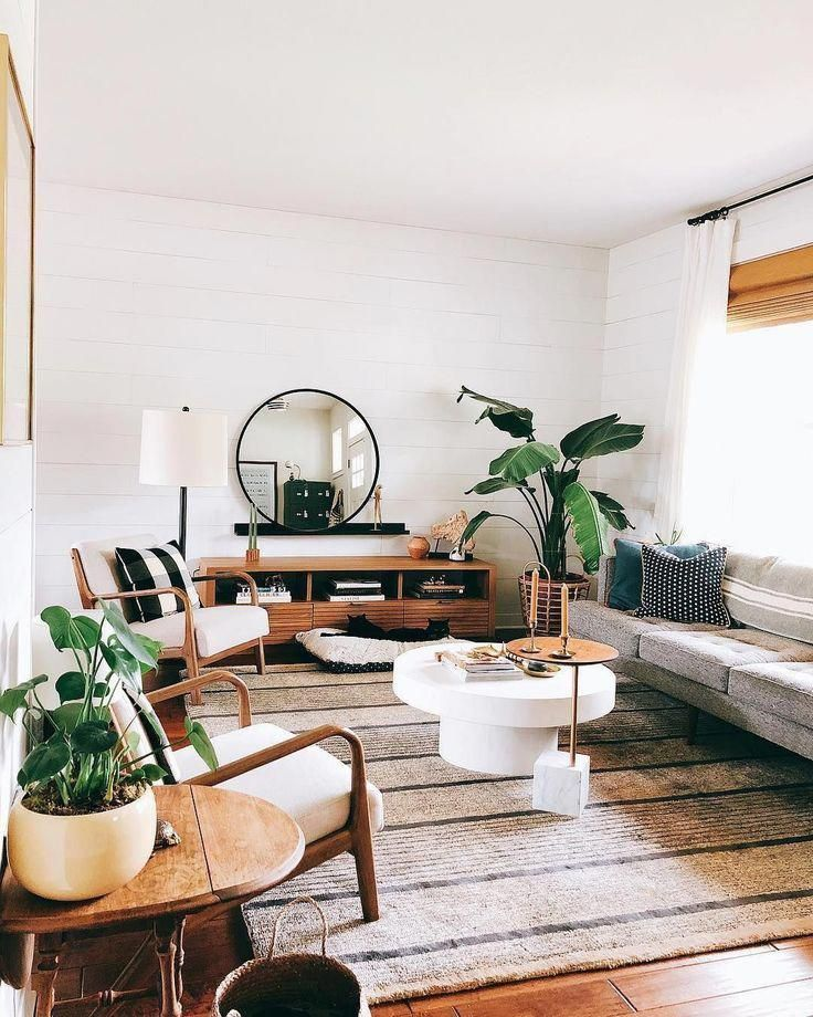 A Mix Of Mid Century Modern Bohemian And Industrial Interior Style Home And Apa Living Room Scandinavian Rustic Living Room Scandinavian Decor Living Room