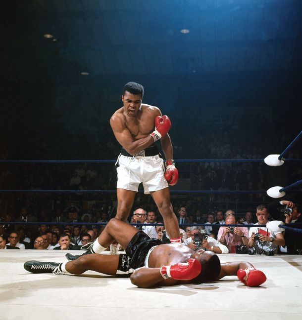 """Muhammad Ali VS Sonny Liston"" by Neil Leifer, 1965 - Lewiston, Maine"