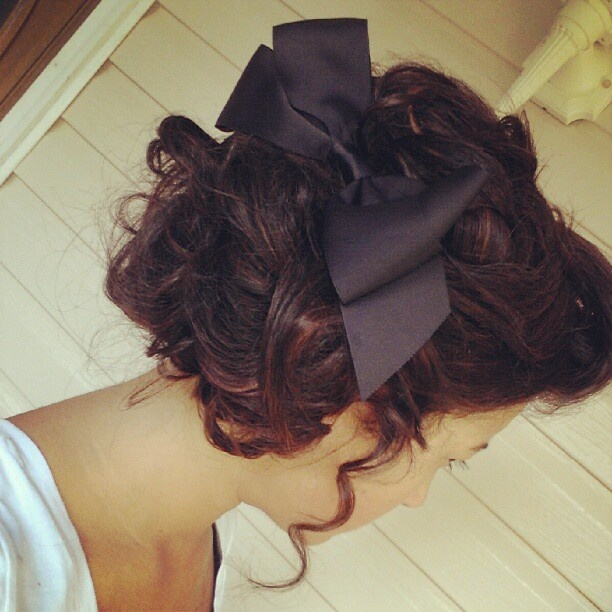 Apostolic pentecostal hair. I have so many ribbons I need to find more ways to use them.