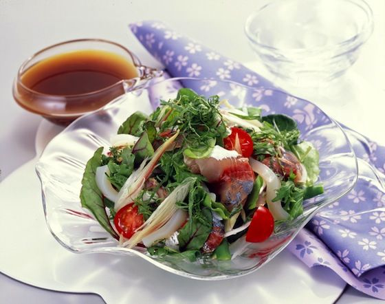 お刺身サラダ  http://www.yamasa.com/recipes/371/