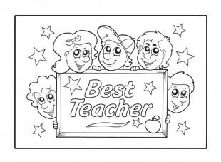 17 best images about teacher appreciation ideas on for Best teacher coloring pages