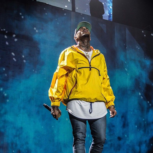 Chris Brown on stage live - March 2015.