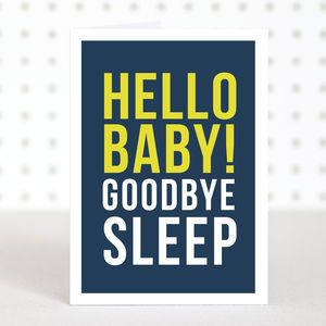 'Hello Baby' New Baby Card
