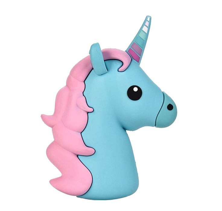 Majestic Unicorn Emoji Powerbank charger for iOS & Android (Blue)
