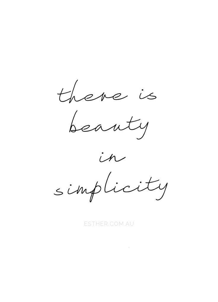Vereinfache dein Leben … deine Gedanken und die Menschen, die dich umgeben … Qualität statt Quantität … Ich brauche einen PAUSE