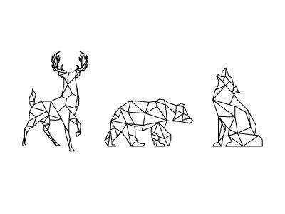 geometrisch: hirsch, bär, fuchs                                                                                                                                                                                 Mehr