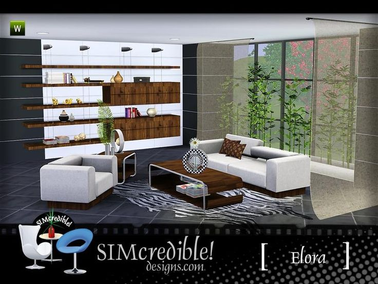 A Modern Living Room For Your Sims By SIMcredibledesigns Found In TSR