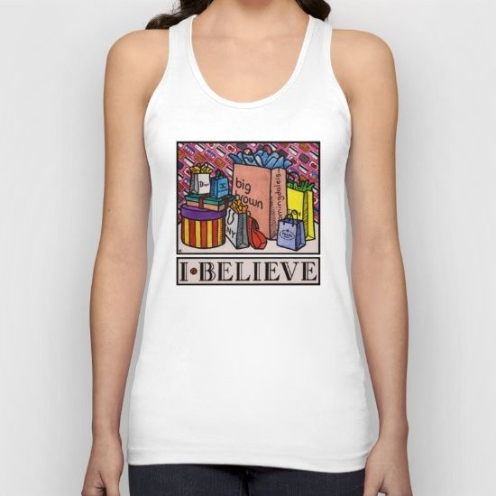 "The ""I Believe"" Illustration Collection by Vernon Fourie is available at society6.com/vernonfccstudio as T-Shirts, V-Neck T-Shirts, Long Sleeve T-Shirts, Tank Tops, Biker Tanks, Hoodies, Throw Pillows, Tote Bags, Art Prints & Coffee Mugs. American Apparel Tank Tops are made with 100% fine jersey cotton combed for softness and comfort. (Athletic Grey and Athletic Blue contain 50% polyester / 25% cotton / 25% rayon)"