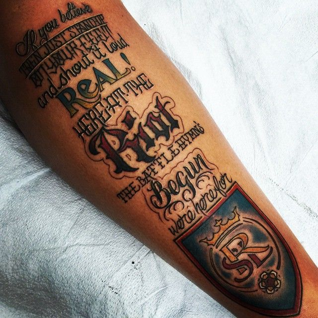 real salt lake tattoo this was done by my tattoo artist