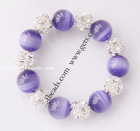 http://www.gets.cn/product/Cats-Eye-Bracelet--brass-rhinestone-spacer--14mm-12mm_p265602.html: Bracelets, Necklaces