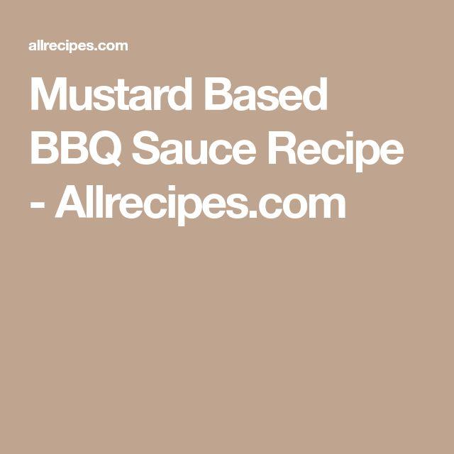 Mustard Based BBQ Sauce Recipe - Allrecipes.com