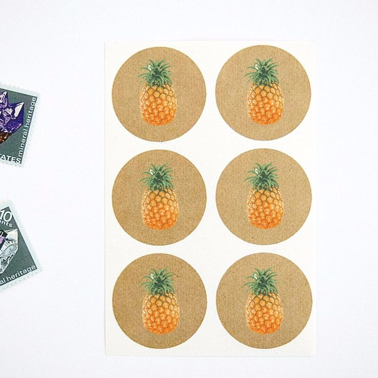 Summer Rustic Pineapple Stickers