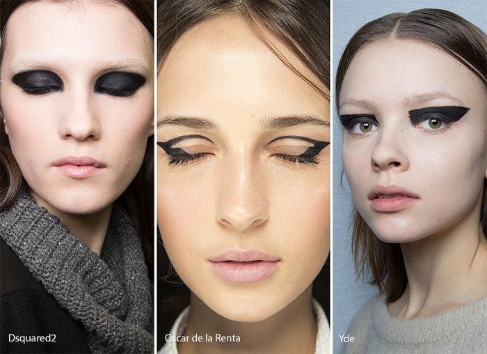 Fall/ Winter 2016-2017 Makeup, Beauty Trends: Graphic Black Eye Makeup